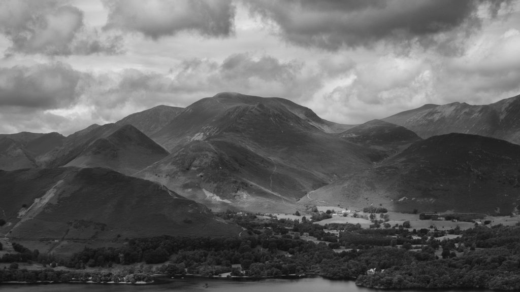 Across Derwent Water from the Walla Crag