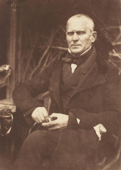 David Octavius Hill and Robert Adamson (Scottish, 1821 - 1848 ), William McNab, 1843-47, salted paper print from a paper negative, Paul Mellon Fund