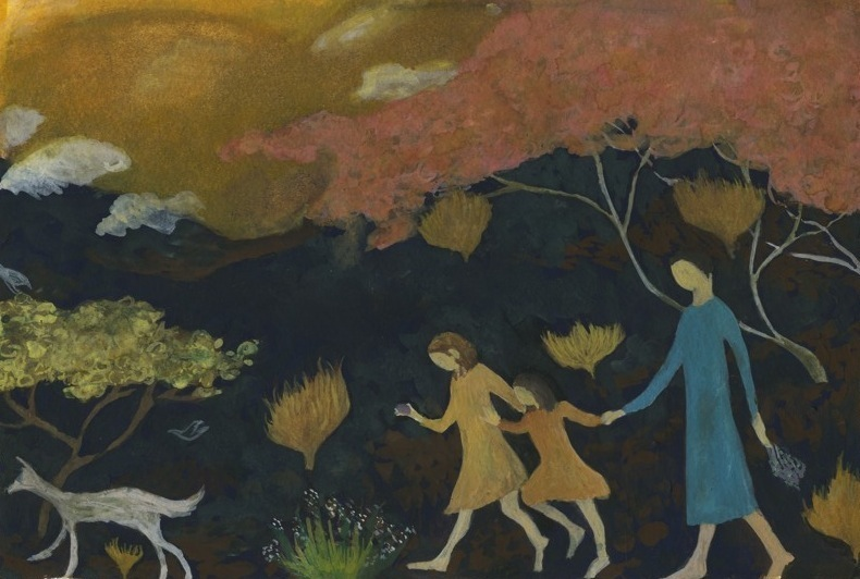 Mother, Children and Dog. Demetra Browing 2008